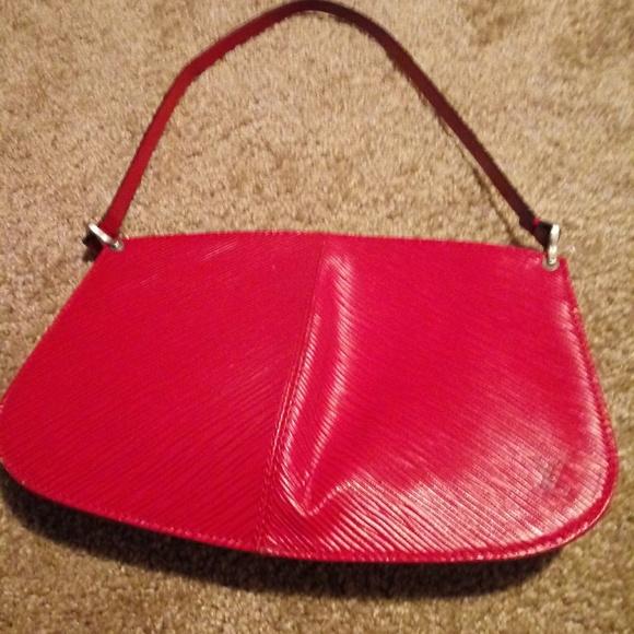 Louis Vuitton Handbags - Louis Vuitton Epi red Leather Pochette